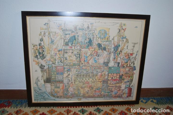 Arte: REPRODUCCIÓN OBRA ROGIER MEKEL - LA VIDA A BORDO DE UN BARCO - POSTER - THE TREASURE CHEST - HOLANDA - Foto 13 - 194226261