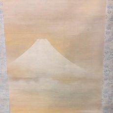 Arte: ROLLO VERTICAL DE PINTURA ASIATICA. VOLCAN FUJI JAPON. Lote 194492021