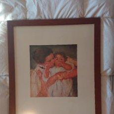 Arte: MARY CASSATT MÈRE ET ENFANT SUR FOND VERT / MATERNITÉ ·ENMARCADA ·REPRODUCCIÓN (ORIGINAL DE 1897). Lote 194661766