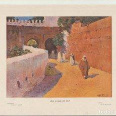 Arte: LÁMINA. (20,5X28,5) COLECCIÓN BLANCO Y NEGRO. UNA CALLE DE FEZ POR M. BERTUCHI. Lote 194681925