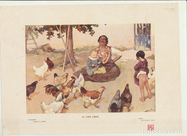 LÁMINA (20,5X28,5) COLECCIÓN BLANCO Y NEGRO. AL AIRE LIBRE DE MEDINA VERA (Arte - Láminas Antiguas)