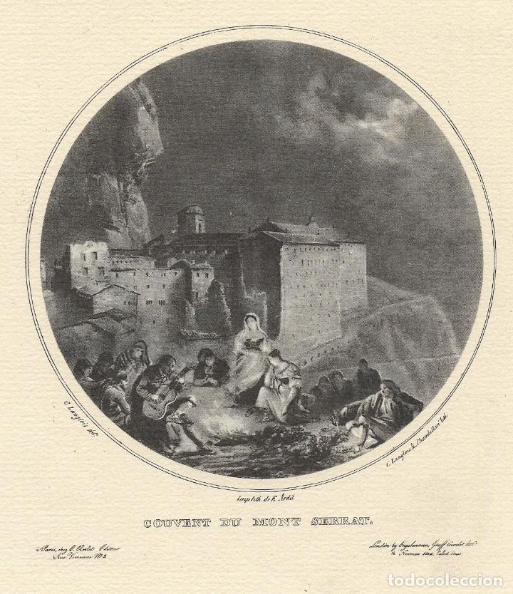 Arte: MONTSERRAT, COUVENT DU MONT SERRAT - C.LANGLOIS & CHAMBELLAN - IMP. E. ARDIT - Foto 2 - 194872278