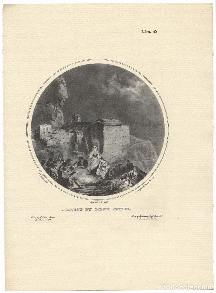 MONTSERRAT, COUVENT DU MONT SERRAT - C.LANGLOIS & CHAMBELLAN - IMP. E. ARDIT (Arte - Láminas Antiguas)