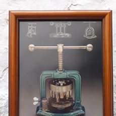 Arte: INSTRUMENTAL MÉDICO ANTIGUO LAMINA ENMARCADA 37X31 CM. Lote 194934853