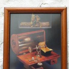 Arte: INSTRUMENTAL MÉDICO ANTIGUO LAMINA ENMARCADA 37X31 CM. Lote 194934983