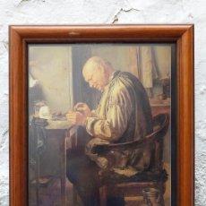 Arte: INSTRUMENTAL MÉDICO ANTIGUO LAMINA ENMARCADA 37X31 CM. Lote 194935106