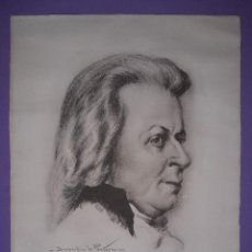 Arte: LAMINA Nº 4 MOZART DE BERNARDINO PANTORBA 300 REPRODUCCIONES NUMERADAS 40X30 CM. LAMINA GRUESA. Lote 195189392