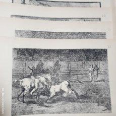 Arte: 4 LAMINAS ESTAMPAS - FRANCISCO DE GOYA - SUERTES Y ACTITUDES DEL ARTE DE LIDIAR CON LOS TOROS - V. Lote 195222882