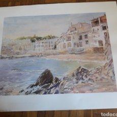 Arte: ANTIGUA LÁMINA DE CADAQUES, JAPIZUA. Lote 195288165