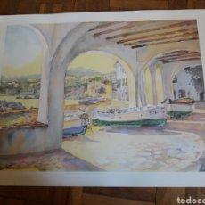 Arte: ANTIGUA LÁMINA DE CADAQUES, JAPIZUA. Lote 195288337
