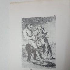 Arte: LAMINA DE GOYA MIREN QUE GRABES AÑOS 70 DE 32X21,5 CM. Lote 195331577