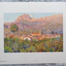 Arte: LAMINA VISTA SOLLER CON EL PUIG MAJOR (MALLORCA). 21 X 27,5 CM (APROX). Lote 195393116