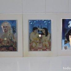 Arte: ZODIACO. 3 PRECIOSAS LAMINAS DE SÍMBOLOS DEL ZODIACO. Lote 195414870