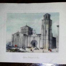 Arte: IGLESIA COLEGIAL DE TORO. COLOREADA. . Lote 195502113