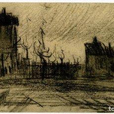 Arte: VINCENT VAN GOGH. VISTA DE LA CIUDAD. DIBUJO FACSÍMIL. ARTIKA 2015. Lote 195801270