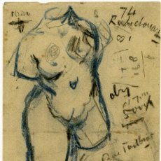 Arte: VINCENT VAN GOGH. TORSO DE VENUS. DIBUJO FACSÍMIL. ARTIKA 2015. Lote 195803063