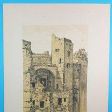 Arte: LAMINA 44X32 TORRE ROMANICA CARRER BASEA, BARCELONA ARTISTICA MONUMENTAL, ALEXANDRE CARDUNETS,CARTEL. Lote 196060743