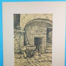 Arte: LAMINA 44 X 32 CM HOSTAL DE GIRONA, BARCELONA ARTISTICA MONUMENTAL, ALEXANDRE CARDUNETS,CARTEL. Lote 196060842