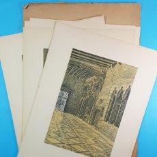 Arte: LOTE 10 LAMINAS 44 X 32 CM BARCELONA ARTISTICA MONUMENTAL, ALEXANDRE CARDUNETS,CARTEL. Lote 196062401