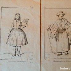 Arte: GRABADO TRAJES REGIONALES MENORCA. Lote 196495082