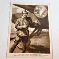 Arte: 1916 PILOTO DE VUELO WILLIAM LEEFE ROBINSON - LAMINA PAPEL 30 X 20.CM. Lote 262173240