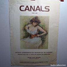 Arte: CARTEL LÁMINA DEL CENTENARIO DE RICARD CANALLS.1976.MUSEU D'ART MODERN.. Lote 197676837