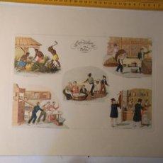 Arte: GRAN LAMINA GRABADO ZAMBELETTI ESPAÑA FABRICACION DE TABACO 36 X 29 CM APROXIMADOS. Lote 198470701