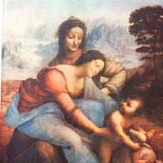 Arte: OBRAS PRIMAS DO RENASCIMENTO ITALIANO. LEONARDO DA VINCI. A VIRGEM, SANT´ANA E O MENINO. Lote 199057400