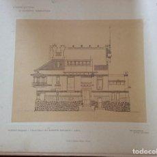 Arte: L´ARCHITETTURA DI GIUSEPPE SOOMARUGA. SARNICO, BERGAMO - VILLA DELL´ ING. GIUSEPPE FACCANONI, 1907. Lote 199072286