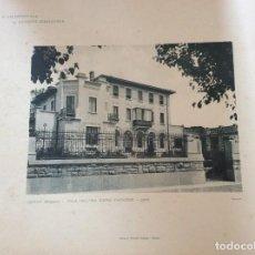 Arte: L´ARCHITETTURA DI GIUSEPPE SOOMARUGA. SARNICO, BERGAMO - VILLA DELL´ ING. GIUSEPPE FACCANONI, 1906. Lote 199072608
