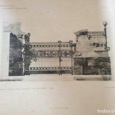 Arte: L´ARCHITETTURA DI GIUSEPPE SOOMARUGA. CREDARO. VILLA DELL ´ING. LUIGI FACCONI, 1907. Lote 199072802