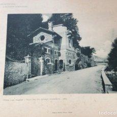 Arte: L´ARCHITETTURA DI GIUSEPPE SOMARUGA. STRESA - VILLA DEL SIG. ANGELO GALIMBERTI, 1906. Lote 199073610