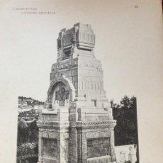 Arte: L´ARCHITETTURA DI GIUSEPPE SOMARUGA. GALLIANO ( COMO ). EDICOLO FUNEBRE 1908. Lote 199073891