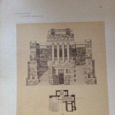 Arte: L´ARCHITETTURA DI GIUSEPPE SOMARUGA. SARNICO, BERGAMO. MAUSOLEO FUNEBRE CON CAPPELA...1907. Lote 199075147