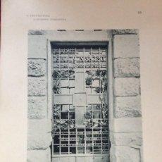 Arte: L´ARCHITETTURA DI GIUSEPPE SOMARUGA. SARNICO, BERGAMO. MAUSOLEO FUNEBRE CON CAPPELA...1907. Lote 199075336