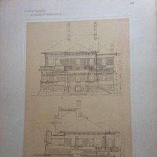 Arte: L´ARCHITETTURA DI GIUSEPPE SOMARUGA. MILANO - PALAZZINA DEL SIG. FELICE GALIMBERTI, 1908. Lote 199124176