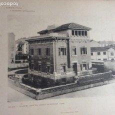 Arte: L´ARCHITETTURA DI GIUSEPPE SOMARUGA. MILANO - PALAZZINA DELL´ING.ANGELO SALMOIRAGUI, 1906. Lote 199124361