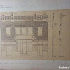 Arte: L´ARCHITETTURA DI GIUSEPPE SOMARUGA. TREVISO - PALAZZINA CON GRANDE LOCALE AD USO FARMACIA... 1905. Lote 199124741