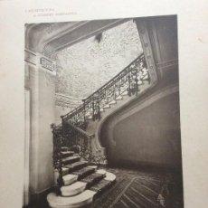 Arte: L´ARCHITETTURA DI GIUSEPPE SOMARUGA. MILANO - PALAZZO DEL SIG. PIETRO PIVA, 1905. Lote 199124923