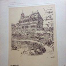 Arte: L´ARCHITETTURA DI GIUSEPPE SOMARUGA.BAVENO LAGO MAGGIORE - VILLA DELL´ING. GIOVANNI CAROSIO, 1908. Lote 199126751