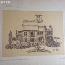 Arte: L´ARCHITETTURA DI GIUSEPPE SOMARUGA. SARNICO, BERGAMO. VILLA DELL´ING. GIUSEPPE FACCANONI, 1907. Lote 199127102