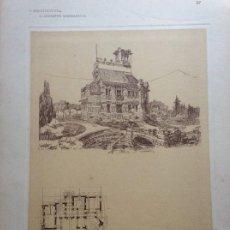 Arte: L´ARCHITETTURA DI GIUSEPPE SOMARUGA. SARNICO, BERGAMO. VILLA DELL´ING. GIUSEPPE FACCANONI, 1907. Lote 199127330