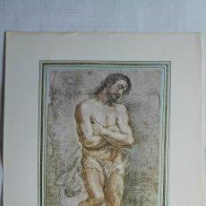 Arte: LAMINA Nº 64, JUAN CARREÑO DE MIRANDA - BAUTISMO DE CRISTO, MEDIDAS 34,5 X 23 CM. Lote 199915081