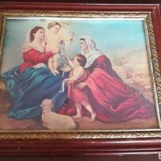 Arte: LAMINA RELIGIOSA ENMARCADA MÁS CUADRITO DE CRISTO DE REGALO.. Lote 183423678
