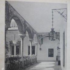 Arte: SEVILLA CASA DEL DUQUE DE ALBA CALOTIPO YERBURY 1926 23,5 X 32 CMTS. Lote 200951353