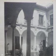 Arte: CORDOBA PATIO DE UNA CASA PRIVADA CALOTIPO YERBURY 1926 23,5 X 32 CMTS. Lote 200979490