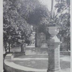 Arte: SEVILLA ALCAZAR REAL JARDINES CALOTIPO YERBURY 1926 23,5 X 32 CMTS . Lote 201097791