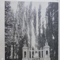 Arte: ARANJUEZ MADRID JARDINES CALOTIPO YERBURY 1926 23,5 X 32 CMTS . Lote 201099793