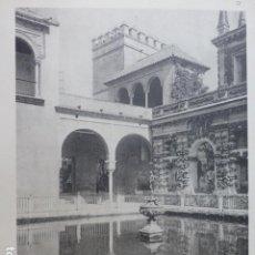 Arte: SEVILLA JARDINES DEL ALCAZAR CALOTIPO YERBURY 1926 23,5 X 32 CMTS . Lote 201100071