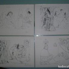 Arte: PICASSO SERIE ERÓTICA MIRÓN VOYEUR CONJUNTO RAROS DIBUJOS IDEAL COLECCIONISTAS. Lote 201149118